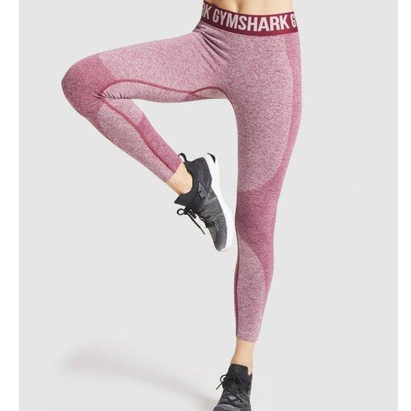 Gymshark Flex Leggings Mid-Rise Seamless Claret